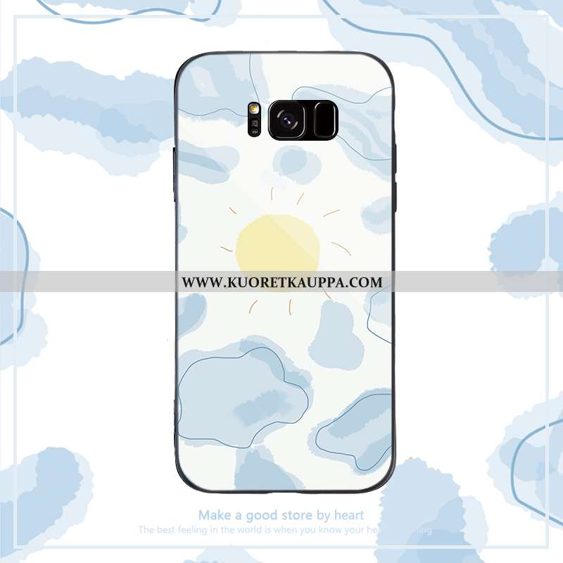 Kuori Samsung Galaxy S8, Kuoret Samsung Galaxy S8, Kotelo Samsung Galaxy S8 Silikoni Lasi Tähti Säte