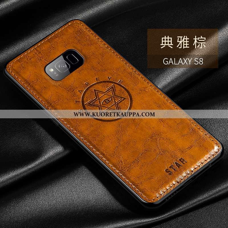 Kuori Samsung Galaxy S8+, Kuoret Samsung Galaxy S8+, Kotelo Samsung Galaxy S8+ Suojaus Tila Nahka Pe