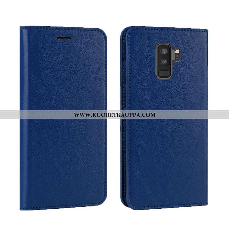Kuori Samsung Galaxy S9+, Kuoret Samsung Galaxy S9+, Kotelo Samsung Galaxy S9+ Aito Nahka Nahka Simp