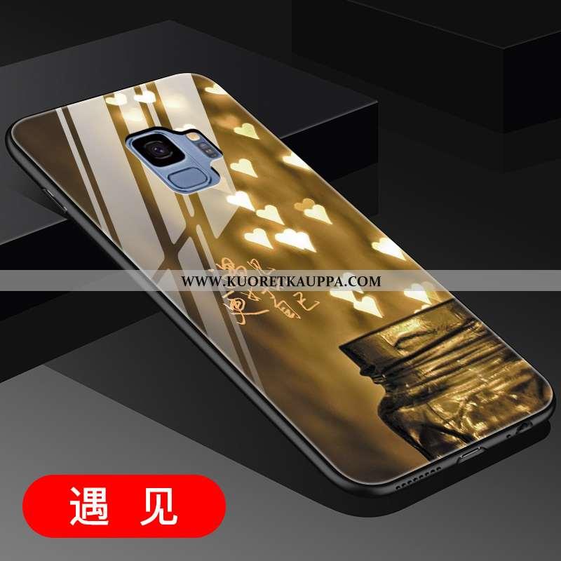 Kuori Samsung Galaxy S9, Kuoret Samsung Galaxy S9, Kotelo Samsung Galaxy S9 Luova Lasi Kulta Persoon