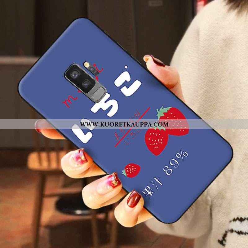 Kuori Samsung Galaxy S9+, Kuoret Samsung Galaxy S9+, Kotelo Samsung Galaxy S9+ Pesty Suede Sarjakuva