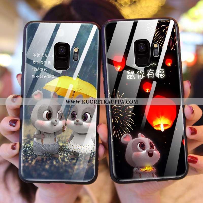 Kuori Samsung Galaxy S9, Kuoret Samsung Galaxy S9, Kotelo Samsung Galaxy S9 Sarjakuva Suojaus Musta