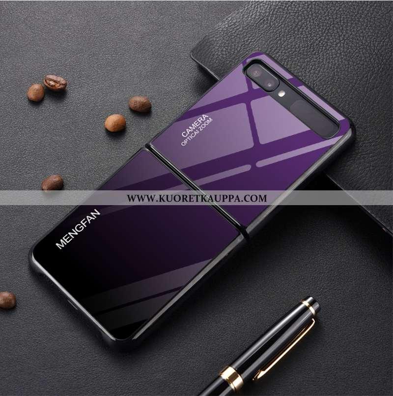 Kuori Samsung Z Flip, Kuoret Samsung Z Flip, Kotelo Samsung Z Flip Suojaus Lasi Kaltevuus Yksinkerta