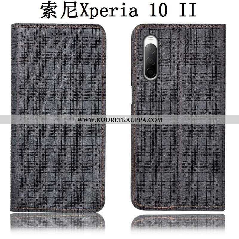 Kuori Sony Xperia 10 Ii, Kuoret Sony Xperia 10 Ii, Kotelo Sony Xperia 10 Ii Nahkakuori Suojaus Murtu