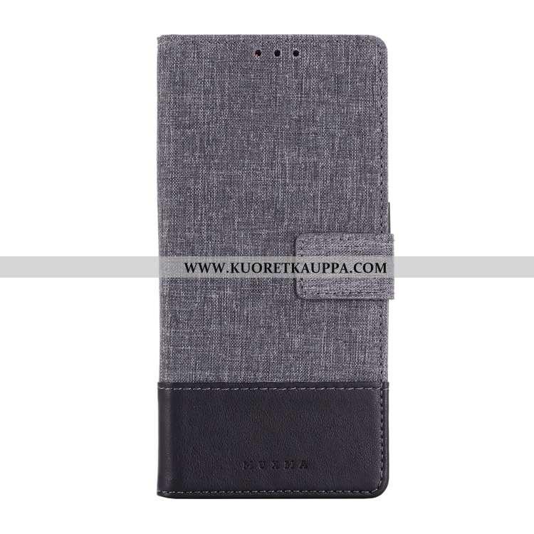 Kuori Sony Xperia 10, Kuoret Sony Xperia 10, Kotelo Sony Xperia 10 Nahkakuori Puhelimen Harmaa