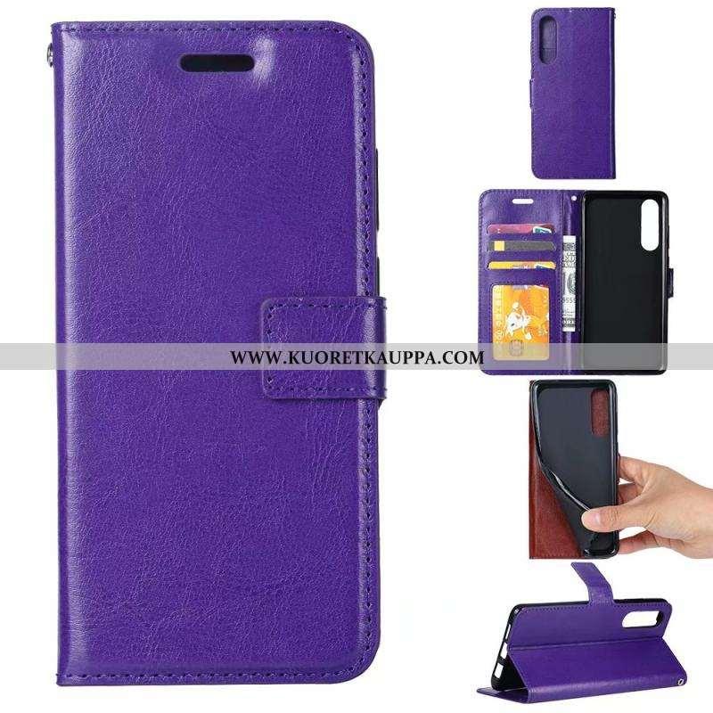 Kuori Sony Xperia 5, Kuoret Sony Xperia 5, Kotelo Sony Xperia 5 Suojaus Nahkakuori Kukkakuvio Violet