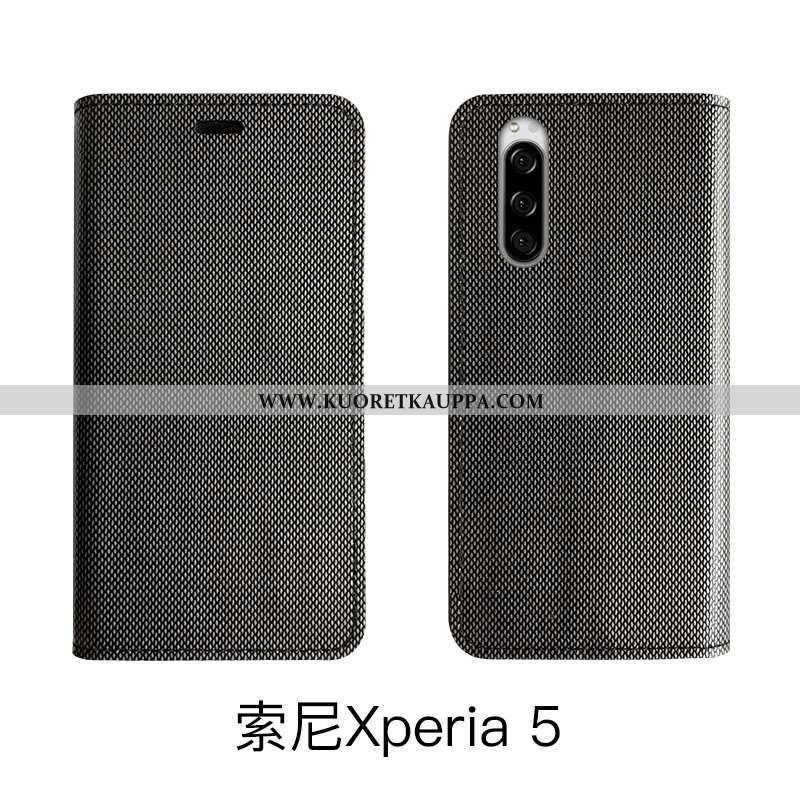 Kuori Sony Xperia 5, Kuoret Sony Xperia 5, Kotelo Sony Xperia 5 Ylellisyys Aito Nahka Nahkakuori Leh