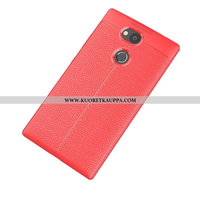 Kuori Sony Xperia L2, Kuoret Sony Xperia L2, Kotelo Sony Xperia L2 Kukkakuvio Pehmeä Neste Punainen