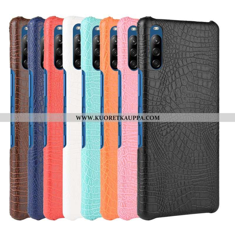 Kuori Sony Xperia L4, Kuoret Sony Xperia L4, Kotelo Sony Xperia L4 Suojaus Nahka Musta Mustat