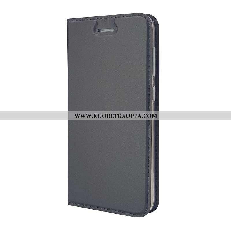 Kuori Sony Xperia Xa1, Kuoret Sony Xperia Xa1, Kotelo Sony Xperia Xa1 Nahkakuori Musta Puhelimen Mus