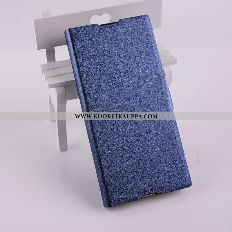 Kuori Sony Xperia Xa1, Kuoret Sony Xperia Xa1, Kotelo Sony Xperia Xa1 Nahkakuori Puhelimen Sininen
