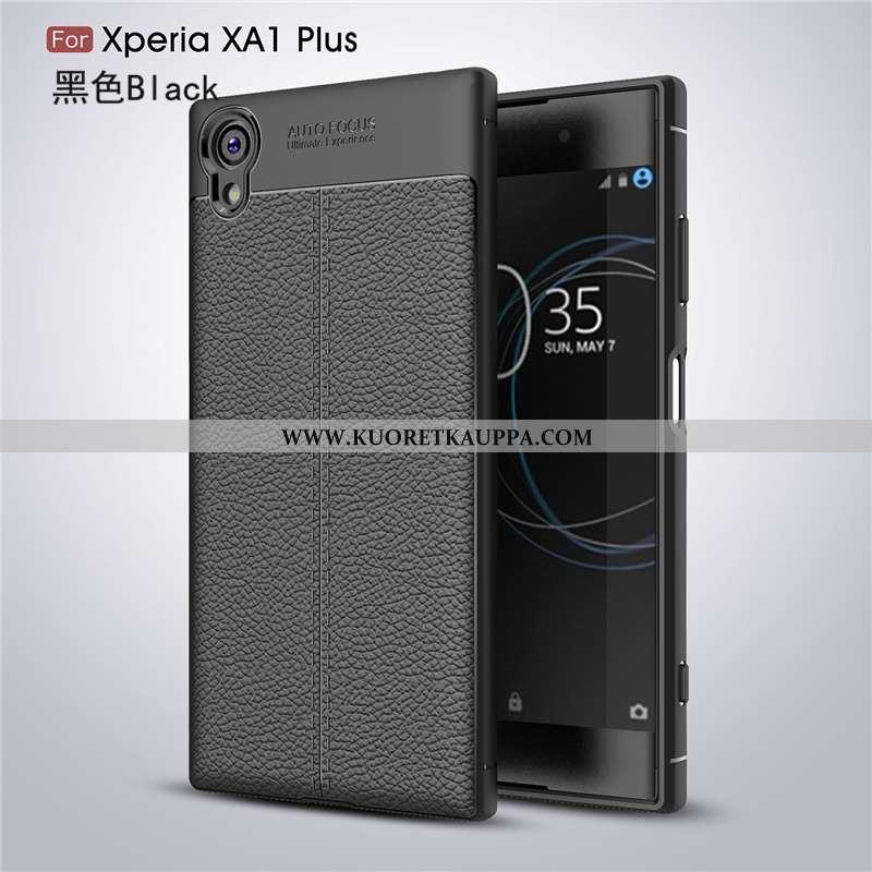 Kuori Sony Xperia Xa1 Plus, Kuoret Sony Xperia Xa1 Plus, Kotelo Sony Xperia Xa1 Plus Nahka Kukkakuvi