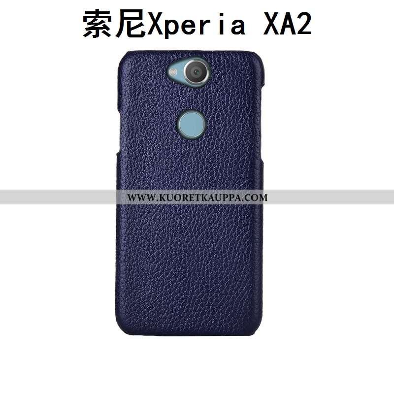 Kuori Sony Xperia Xa2, Kuoret Sony Xperia Xa2, Kotelo Sony Xperia Xa2 Ylellisyys Aito Nahka Tummansi