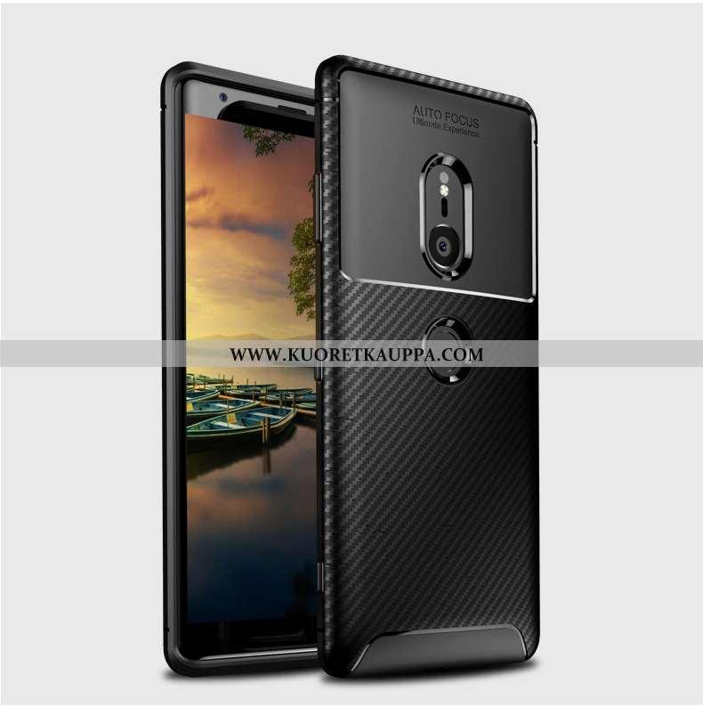Kuori Sony Xperia Xz2, Kuoret Sony Xperia Xz2, Kotelo Sony Xperia Xz2 Suojaus Murtumaton Musta Musta