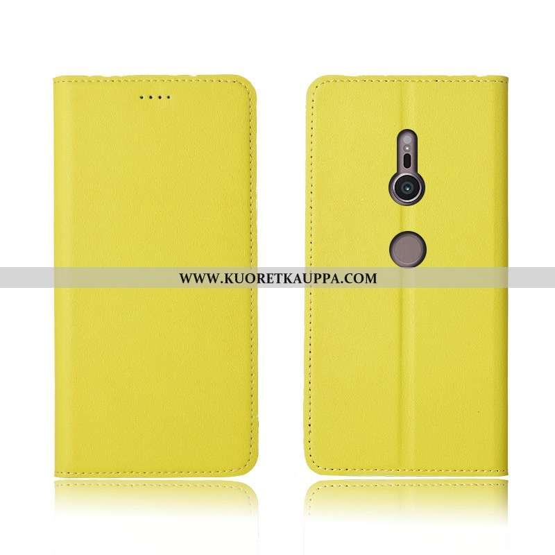 Kuori Sony Xperia Xz3, Kuoret Sony Xperia Xz3, Kotelo Sony Xperia Xz3 Aito Nahka Pehmeä Neste Murtum