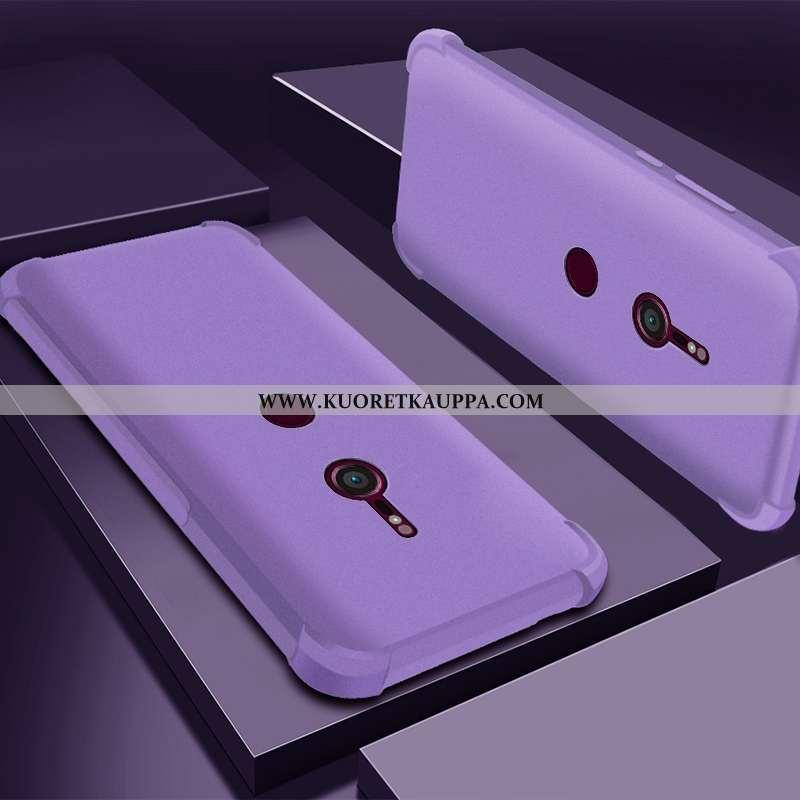 Kuori Sony Xperia Xz3, Kuoret Sony Xperia Xz3, Kotelo Sony Xperia Xz3 Läpinäkyvä Silikoni Violetti