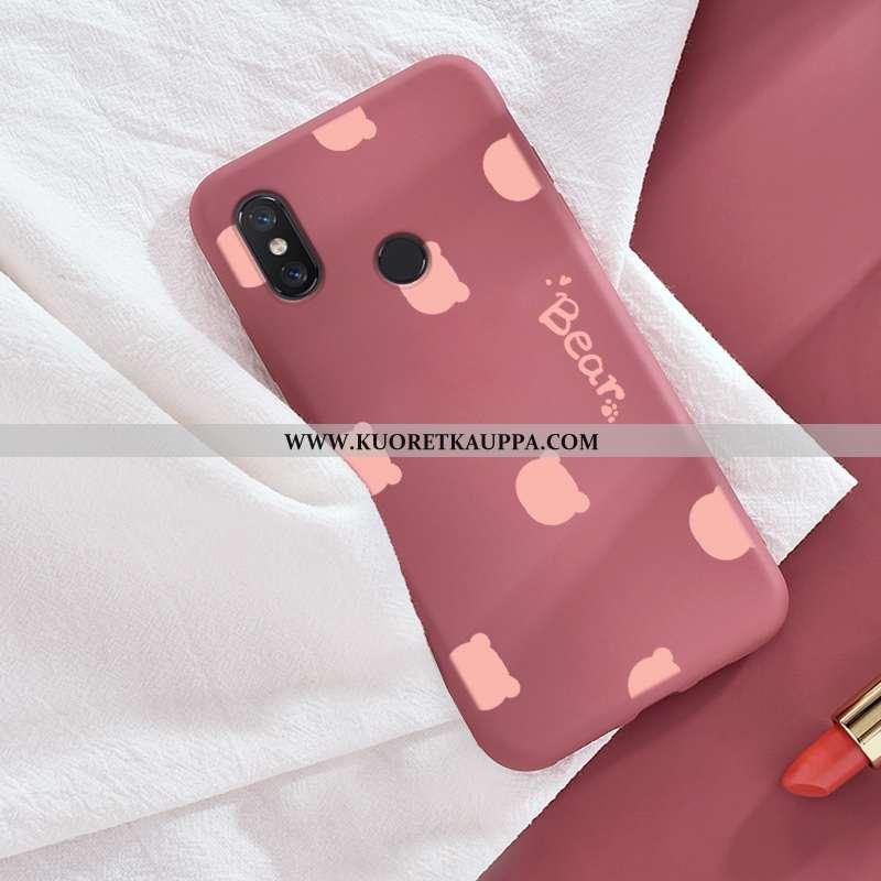 Kuori Xiaomi Mi 8, Kuoret Xiaomi Mi 8, Kotelo Xiaomi Mi 8 Ihana Kukkakuvio Rakastunut Punainen