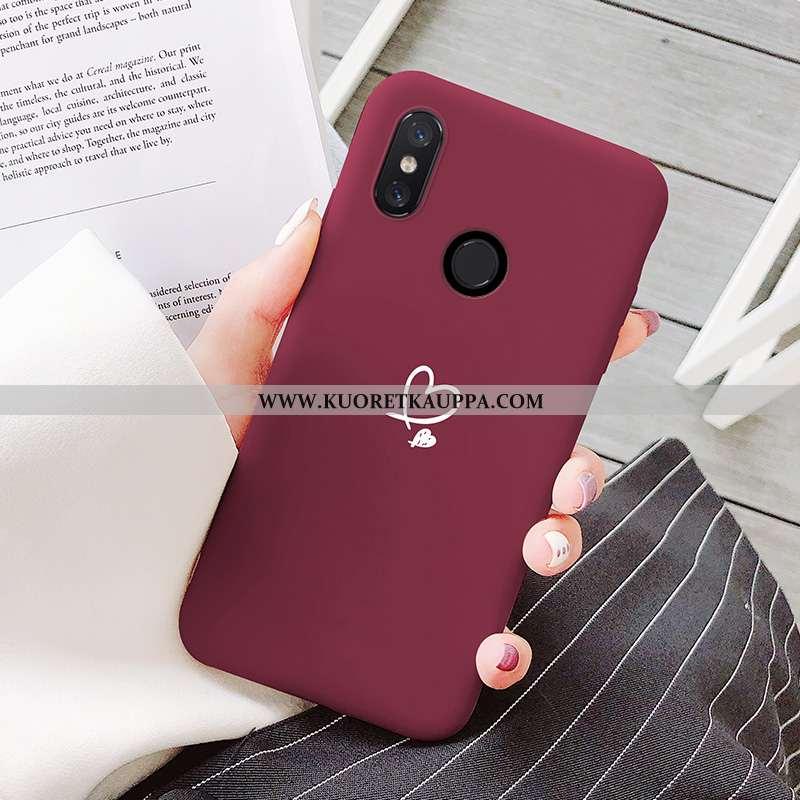 Kuori Xiaomi Mi 8, Kuoret Xiaomi Mi 8, Kotelo Xiaomi Mi 8 Kukkakuvio Suuntaus Viini Punainen Persoon