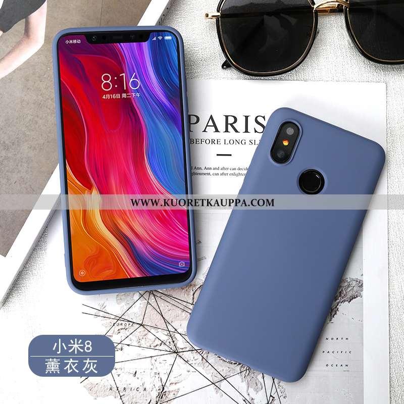Kuori Xiaomi Mi 8, Kuoret Xiaomi Mi 8, Kotelo Xiaomi Mi 8 Pehmeä Neste Silikoni Sininen Puhelimen Al