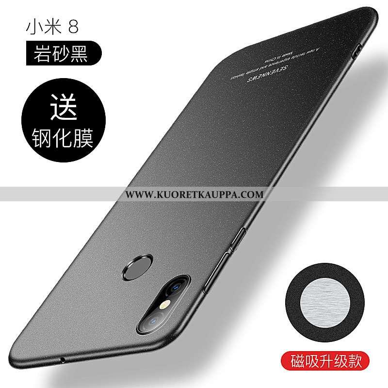 Kuori Xiaomi Mi 8, Kuoret Xiaomi Mi 8, Kotelo Xiaomi Mi 8 Valo Suojaus Kova Puhelimen Luova Mustat