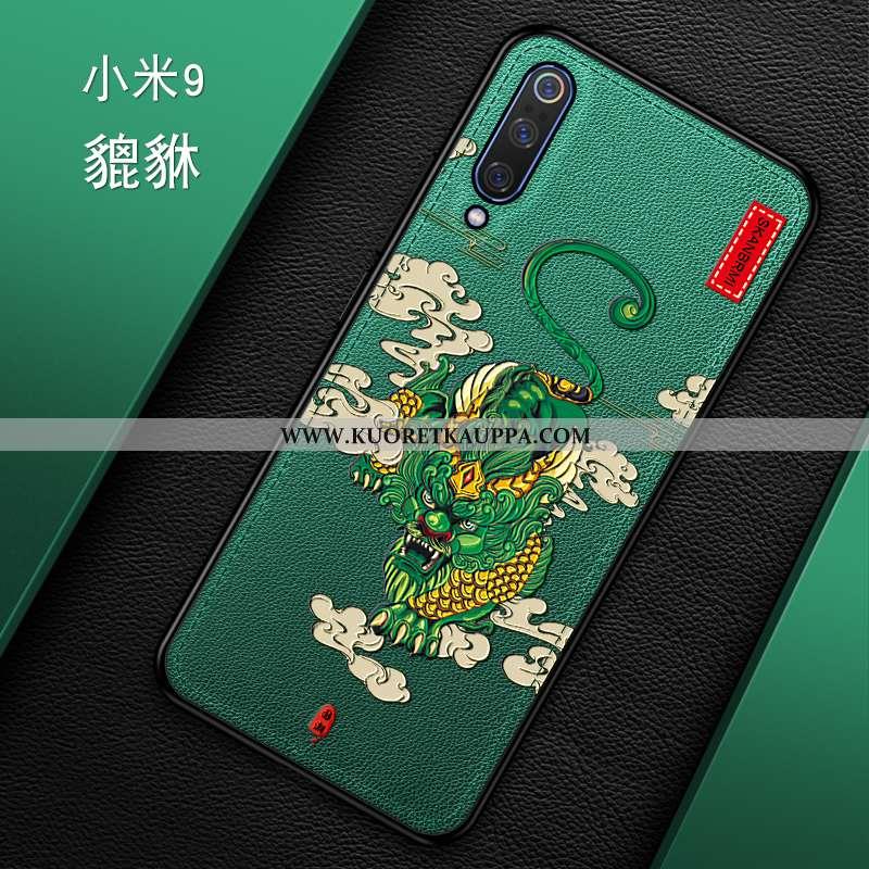 Kuori Xiaomi Mi 9, Kuoret Xiaomi Mi 9, Kotelo Xiaomi Mi 9 Kukkakuvio Suuntaus Murtumaton Vihreä Luov