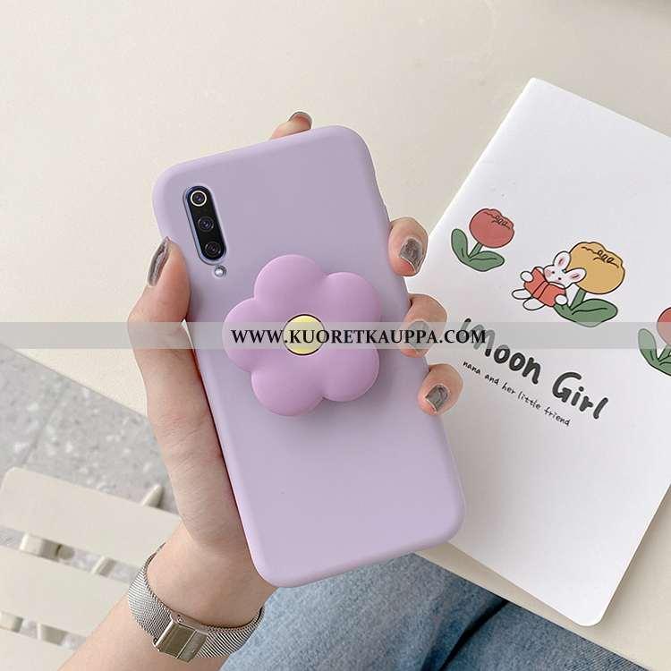 Kuori Xiaomi Mi 9, Kuoret Xiaomi Mi 9, Kotelo Xiaomi Mi 9 Suojaus Pehmeä Neste Kukka Uusi Violetti