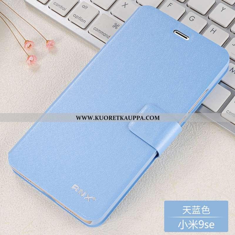 Kuori Xiaomi Mi 9 Se, Kuoret Xiaomi Mi 9 Se, Kotelo Xiaomi Mi 9 Se Nahkakuori Pehmeä Neste Sininen S