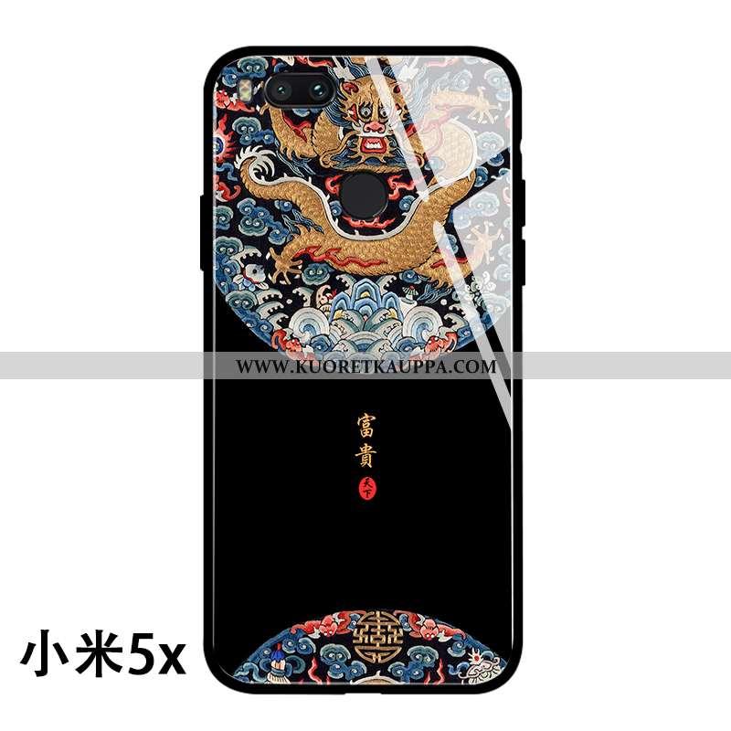 Kuori Xiaomi Mi A1, Kuoret Xiaomi Mi A1, Kotelo Xiaomi Mi A1 Lasi Persoonallisuus Lohikäärme Musta K