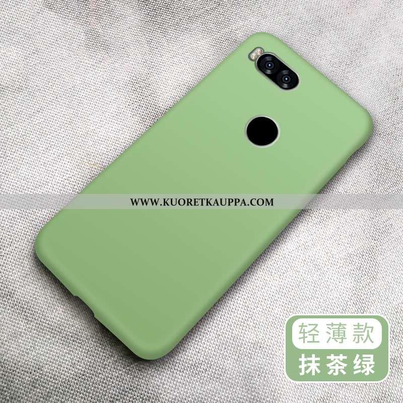 Kuori Xiaomi Mi A1, Kuoret Xiaomi Mi A1, Kotelo Xiaomi Mi A1 Pesty Suede Luova Pehmeä Neste Vihreä