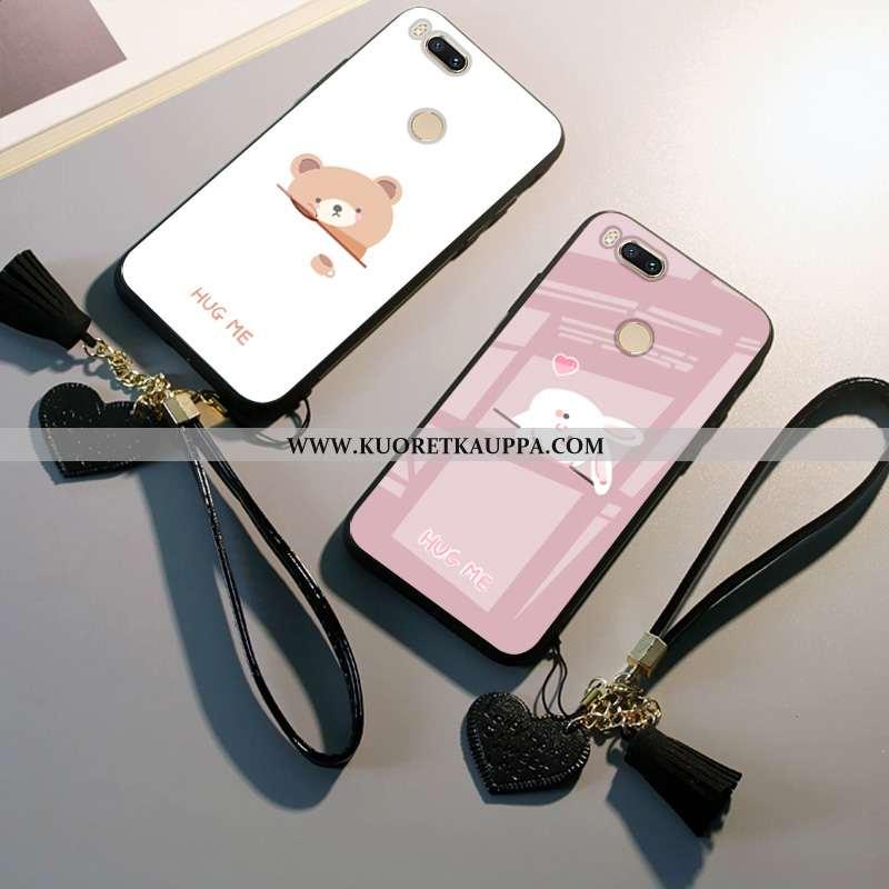 Kuori Xiaomi Mi A1, Kuoret Xiaomi Mi A1, Kotelo Xiaomi Mi A1 Sarjakuva Suojaus Rakastunut Valkoinen