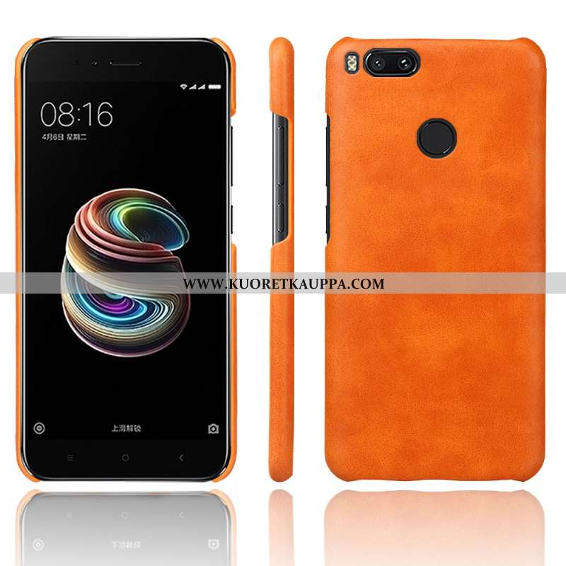 Kuori Xiaomi Mi A1, Kuoret Xiaomi Mi A1, Kotelo Xiaomi Mi A1 Vuosikerta Nahka Oranssi Murtumaton
