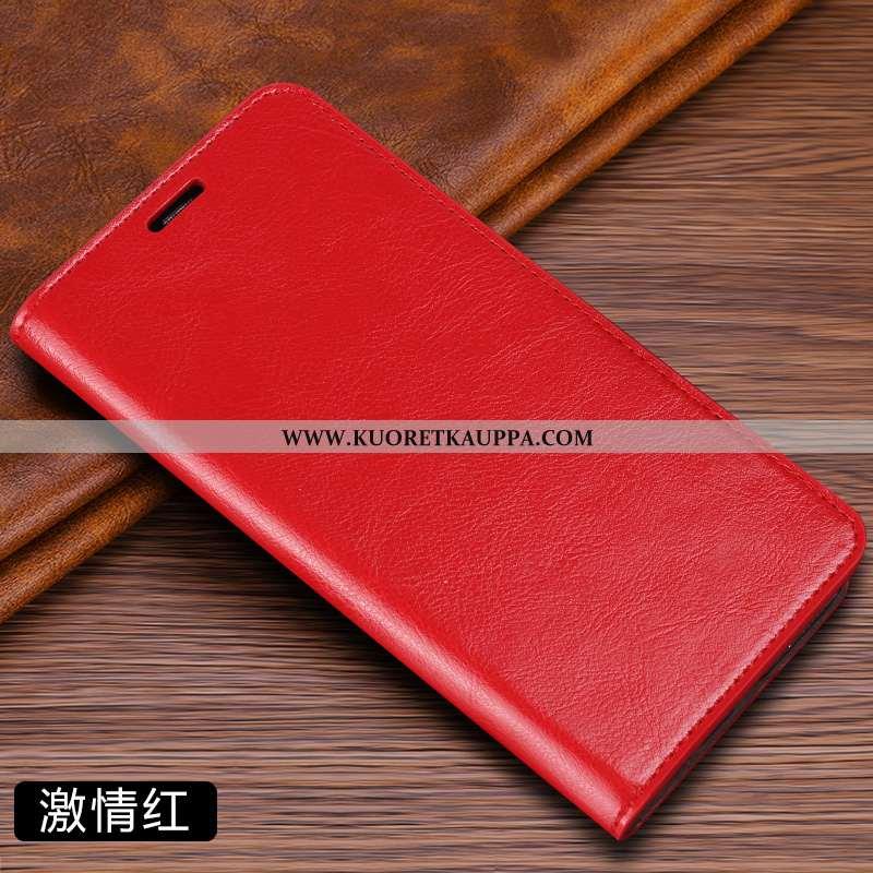 Kuori Xiaomi Mi A2, Kuoret Xiaomi Mi A2, Kotelo Xiaomi Mi A2 Aito Nahka Nahkakuori Punainen