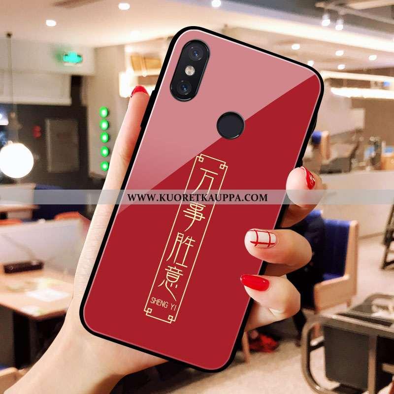 Kuori Xiaomi Mi A2, Kuoret Xiaomi Mi A2, Kotelo Xiaomi Mi A2 Lasi Net Red Pieni Puhelimen Punainen