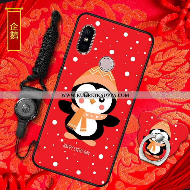 Kuori Xiaomi Mi A2, Kuoret Xiaomi Mi A2, Kotelo Xiaomi Mi A2 Pehmeä Neste Silikoni Punainen All Incl
