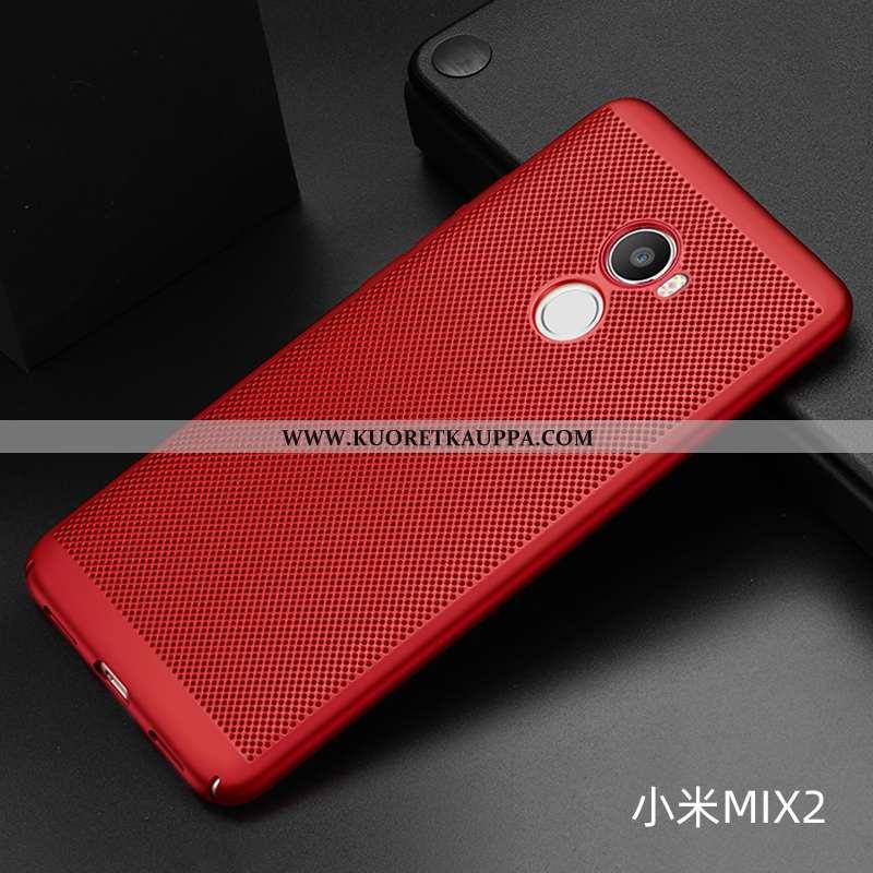 Kuori Xiaomi Mi Mix 2, Kuoret Xiaomi Mi Mix 2, Kotelo Xiaomi Mi Mix 2 Pesty Suede Valo Net Red Hengi