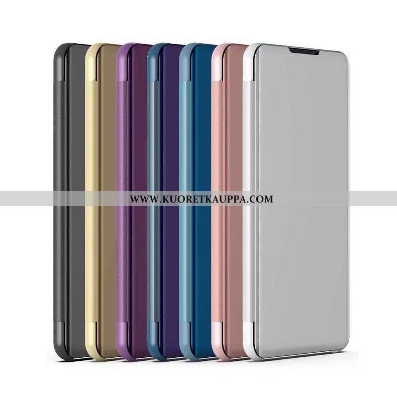 Kuori Xiaomi Mi Mix 3, Kuoret Xiaomi Mi Mix 3, Kotelo Xiaomi Mi Mix 3 Nahkakuori Pieni Peili Hopea T