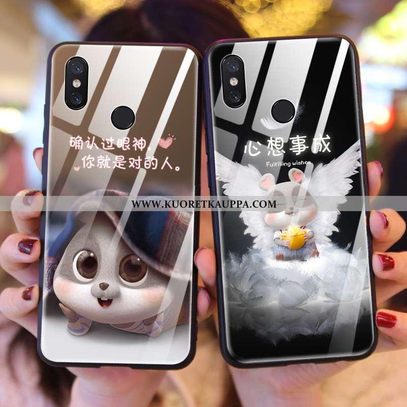 Kuori Xiaomi Mi Mix 3, Kuoret Xiaomi Mi Mix 3, Kotelo Xiaomi Mi Mix 3 Silikoni Suojaus Pieni Musta U