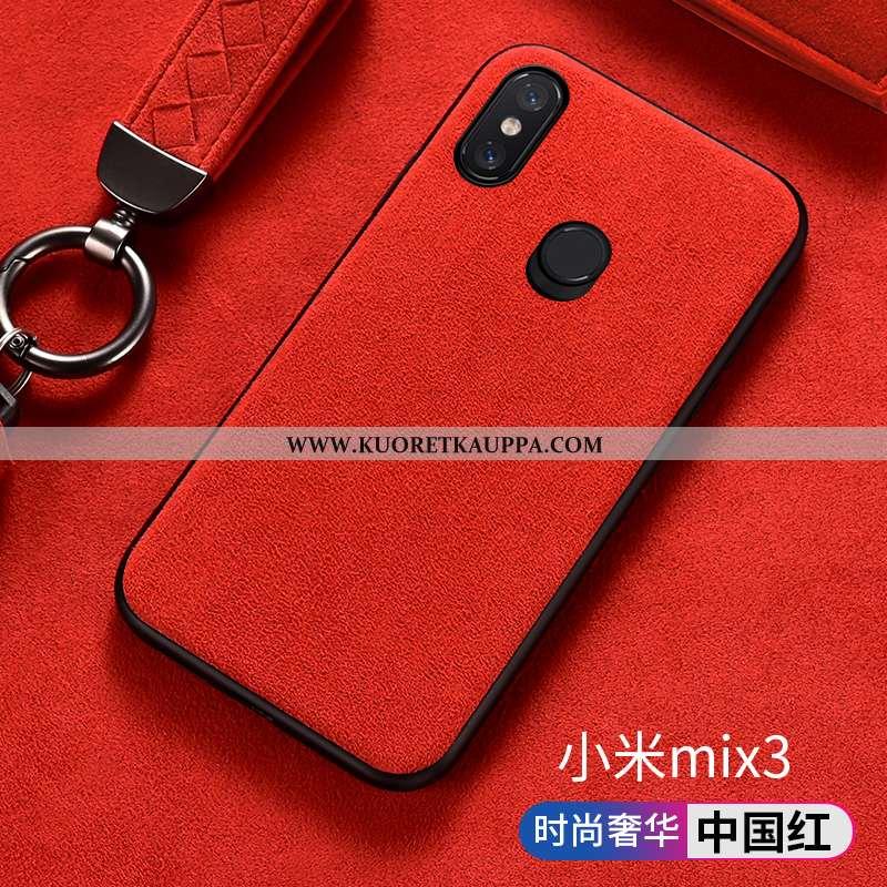 Kuori Xiaomi Mi Mix 3, Kuoret Xiaomi Mi Mix 3, Kotelo Xiaomi Mi Mix 3 Turkki Mokkanahkaa Silikoni Pi