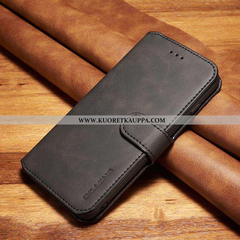 Kuori Xiaomi Mi Note 10, Kuoret Xiaomi Mi Note 10, Kotelo Xiaomi Mi Note 10 Suojaus Nahkakuori Musta