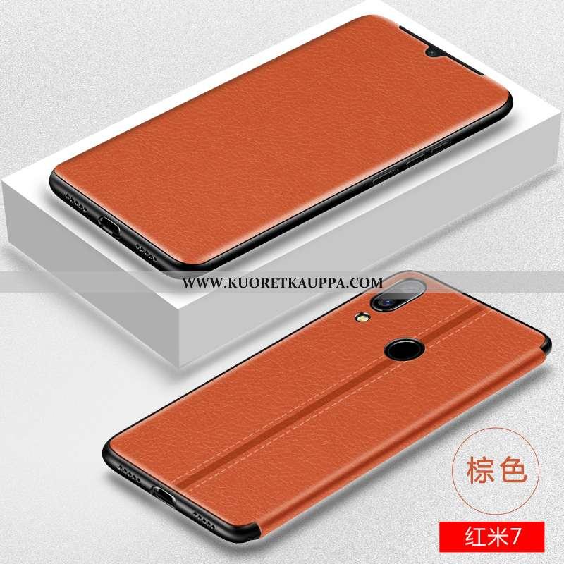 Kuori Xiaomi Redmi 7, Kuoret Xiaomi Redmi 7, Kotelo Xiaomi Redmi 7 Suojaus Nahkakuori Pieni Pehmeä N