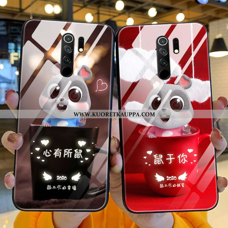 Kuori Xiaomi Redmi 9, Kuoret Xiaomi Redmi 9, Kotelo Xiaomi Redmi 9 Pehmeä Neste Valo Ihana Rotta Pun