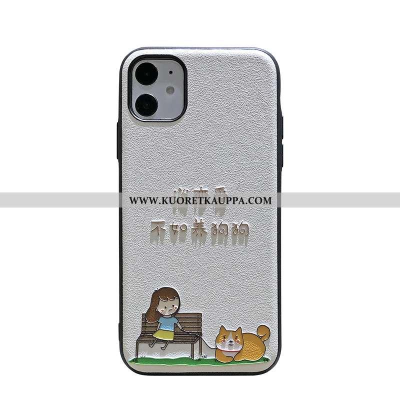 Kuori iPhone 11, Kuoret iPhone 11, Kotelo iPhone 11 Kohokuviointi Pesty Suede Murtumaton Koira Kova