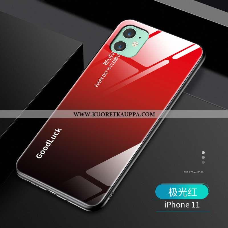 Kuori iPhone 11, Kuoret iPhone 11, Kotelo iPhone 11 Luova Ultra Murtumaton Pehmeä Neste Silikoni Pun