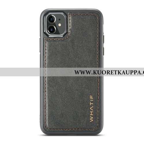 Kuori iPhone 11, Kuoret iPhone 11, Kotelo iPhone 11 Nahka Suojaus Luova Simpukka Puhelimen Mustat