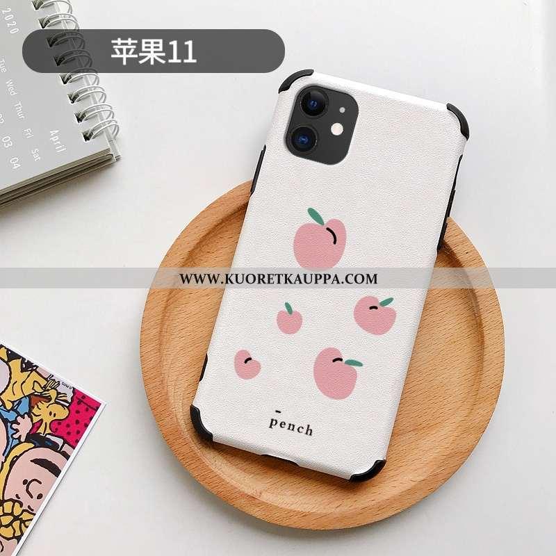 Kuori iPhone 11, Kuoret iPhone 11, Kotelo iPhone 11 Nahkakuori Tila Persoonallisuus Puhelimen Valkoi
