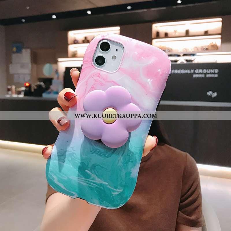 Kuori iPhone 11, Kuoret iPhone 11, Kotelo iPhone 11 Pehmeä Neste Silikoni L Kukkia Tuuli Pinkki