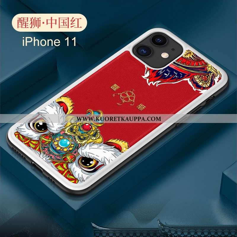Kuori iPhone 11, Kuoret iPhone 11, Kotelo iPhone 11 Pehmeä Neste Valo Nahka Suojaus Kiinalainen Tyyl