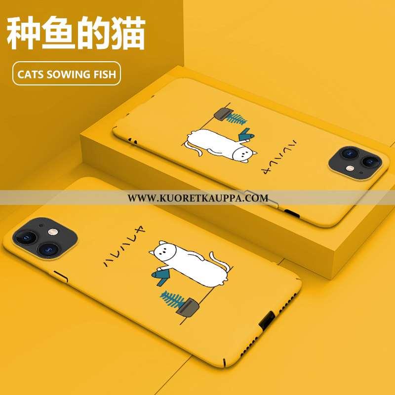 Kuori iPhone 11, Kuoret iPhone 11, Kotelo iPhone 11 Sarjakuva Suuntaus Murtumaton Keltainen Persoona