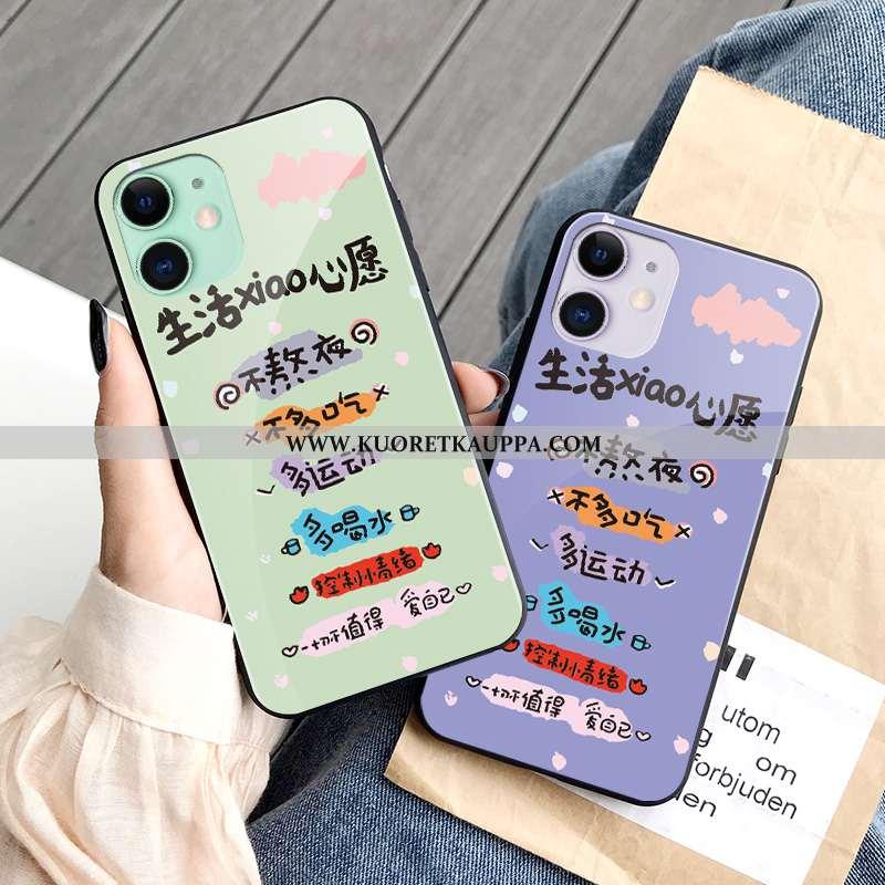 Kuori iPhone 11, Kuoret iPhone 11, Kotelo iPhone 11 Tila Lasi Puhelimen Pieni Rakastunut Violetti