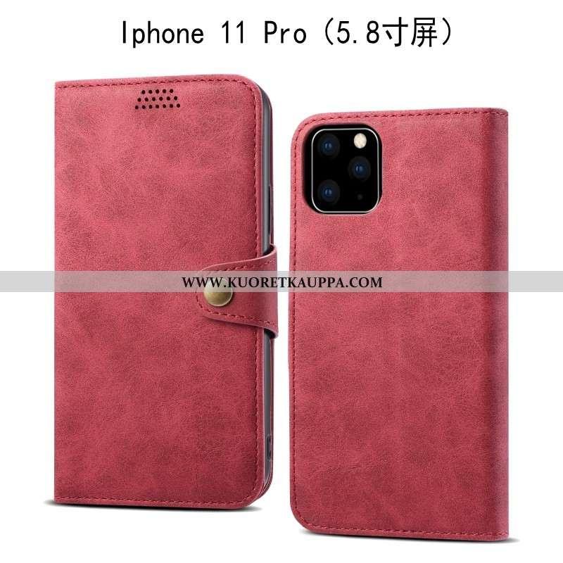 Kuori iPhone 11 Pro, Kuoret iPhone 11 Pro, Kotelo iPhone 11 Pro Nahkakuori Pehmeä Neste Punainen